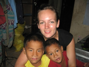 Jen, working with VSN in Nepal