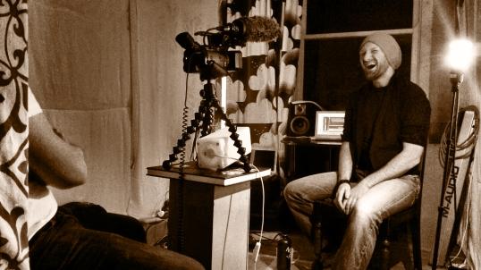 Being Interviewed in Studio